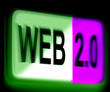 Web 2.0 Sign Means Dynamic User WWW