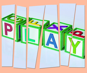 Play Letters Show Fun Enjoyment And Games