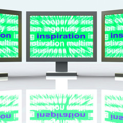 Inspiration Monitors Shows New And Original Ideas