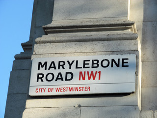 Marylebone Road in London