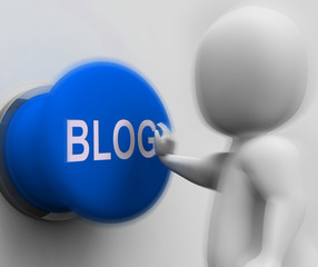 Blog Pressed Shows Online Expression Information Or Marketing