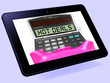 Hot Deals Calculator Tablet Shows Promotional Offer And Savings