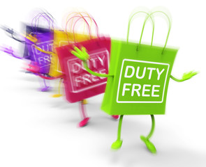 Duty Free Shopping Bags Show Tax Exempt Discounts