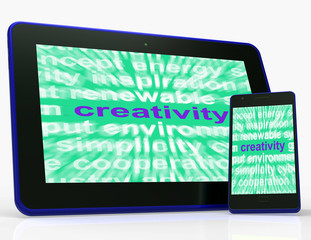 Creativity Tablet Shows Originality, Innovation And Imagination