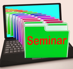 Seminar Folders Laptop Show Convention Presentation Or Meeting
