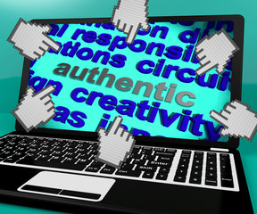 Authentic Laptop Screen Means Genuine Verified And Original