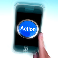 Action In Mobile phone Shows Inspired Activity