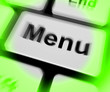 Menu Keyboard Shows Ordering Food Menus Online
