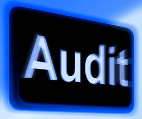 Audit Sign Shows Auditor Validation Or Inspection