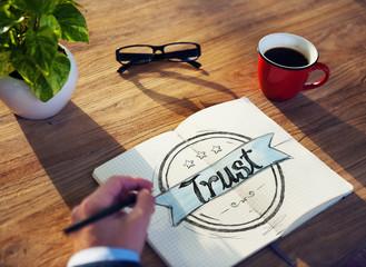 Businessman Brainstorming About Trust