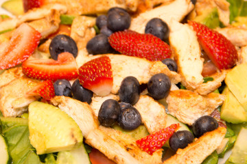 Fruit salad with chicken