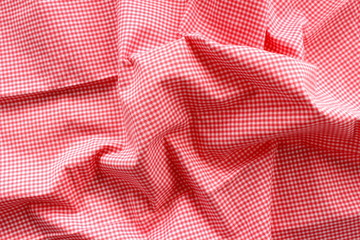 Photo of red wave fabric bacground