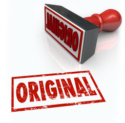 Original Word Stamp First Innovation Creative Originality Unique