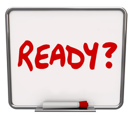 Ready Word Dry Erase Board Prepared Question Readiness Preparati