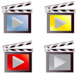 Digital movie media icon set (vector)