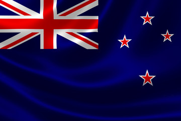 Close Up of New Zealand's Flag