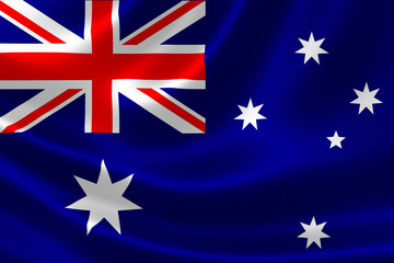 Close Up of Australia's Flag