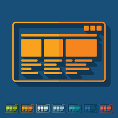 Flat design: interface