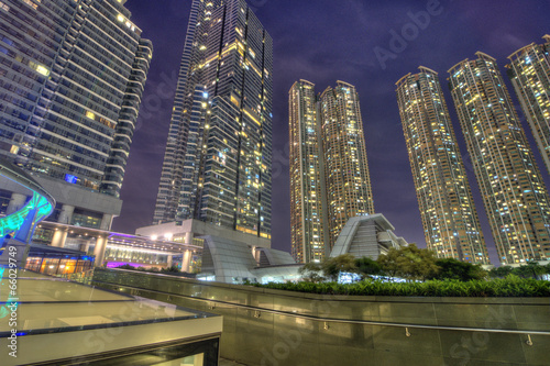 Highrise Skyscrapers by Night