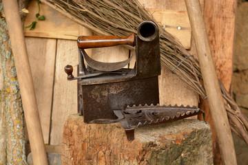 plancha antigua de metal