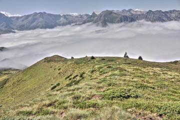 Mer de nuage,Vallée d'Orlu,Pyrénées