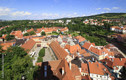 Cesky Krumlov Castle in the Czech Republic.