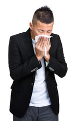 Businessman runny nose