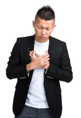 Businessman with heart burn