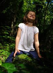 bonheur en forêt