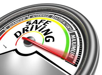 safe driving conceptual meter