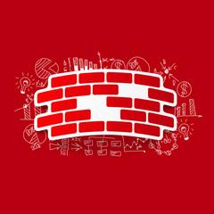Drawing business formulas: brick