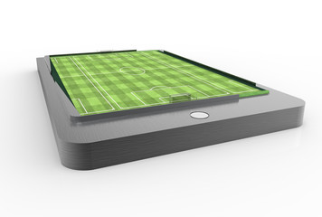 Soccer field on smartphone