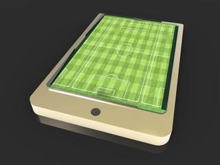Soccer field on smartphone