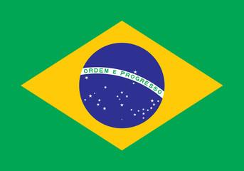 Vector Brazil Flag
