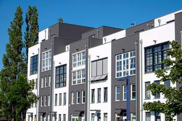Modern terraced housing seen in Berlin