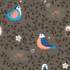 birds and twigs background