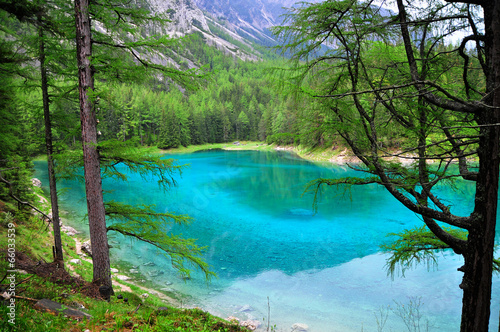 canvas print picture Grüner See