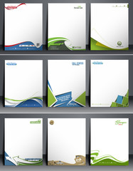 Nine Business Style Corporate Identity Leterhead Template