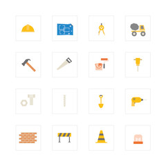Engineering and construction icon set.