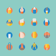 Stationery icons set.