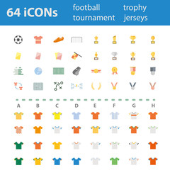 64 Quality design modern vector illustration icons set