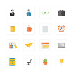Office life icon set.