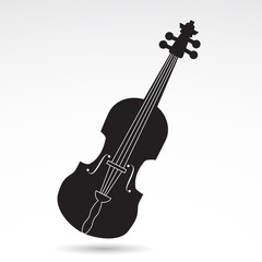 Violin icon isolated on white background. VECTOR illustration.
