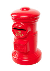 red toy post box
