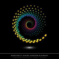 Abstract swirl icon, design element