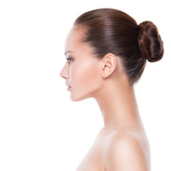 Profile face of  young  woman