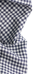checkered napkin on white background