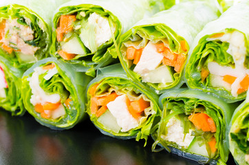 fresh vegetables spring rolls