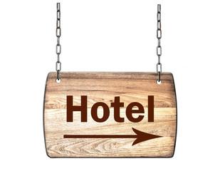 Holzschild Hotel