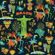 Brazilian Carnival. Seamless pattern